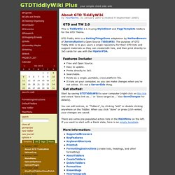 GTDTiddlyWiki Plus - your simple client side wiki