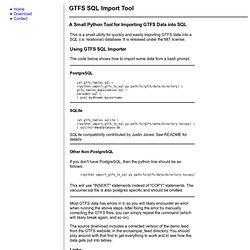 GTFS SQL Importer