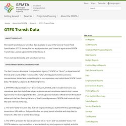 GTFS Transit Data