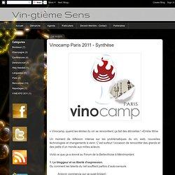 Vinocamp Paris 2011 - Synthèse