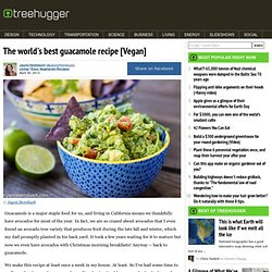 The world's best guacamole recipe [Vegan]