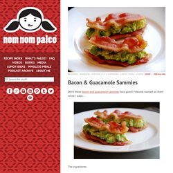 Bacon & Guacamole Sammies Don't these bacon and...