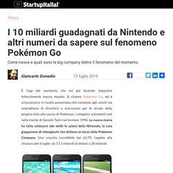 I 10 miliardi guadagnati da Nintendo e altri numeri da sapere sul fenomeno Pokémon Go - Startupitalia