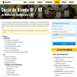 Curso de Diseño UI / UX Monterrey Guadalajara DF - CalidadWEB.net
