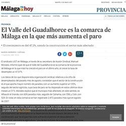 El Valle del Guadalhorce es la comarca de Málaga en la que más aumenta el paro