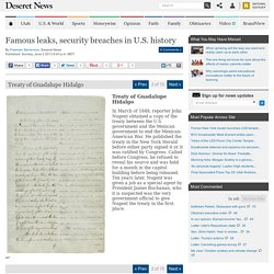 Treaty of Guadalupe Hidalgo | Famous leaks, security breaches in U.S. history