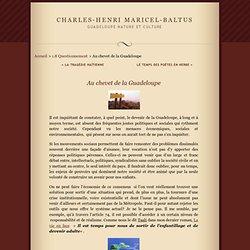 Au chevet de la Guadeloupe · Charles-Henri MARICEL-BALTUS