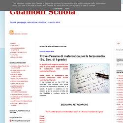 Guamodì Scuola: Prove d'esame di matematica per la terza media (Sc. Sec. di I grado)