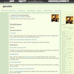 Master List of Grimm fic