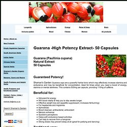 Guarana extract powder - buy online in NZ