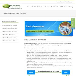 Bank Guarantee - BG - MT760