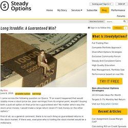 Long straddle: a guaranteed win? - Articles - SteadyOptions