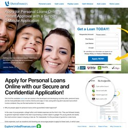 Personal Loans Online Guaranteed Instant Approval Today - Bad Credit OK at UnitedFinances.com