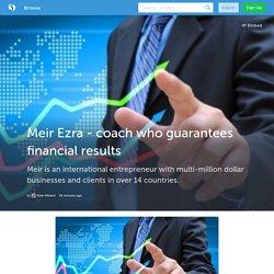 Meir Ezra - coach who guarantees financial results
