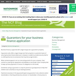 Guarantors for your business finance application - Nationwide Corporate Finance