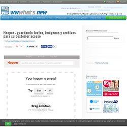 Hooper – guardando textos, imágenes y archivos para su posterior acceso