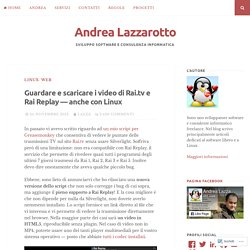 video rai lazzarotto
