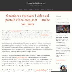 Guardare e scaricare i video del portale Video Mediaset — anche con Linux