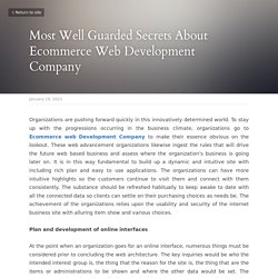 Most Well Guarded Secrets About Ecommerce Web Development Company