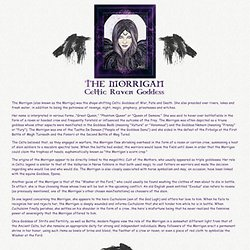 The GuardHouse: The Morrigan...Celtic Raven Goddess