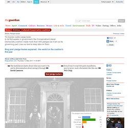 The Guardian coalition pledge tracker