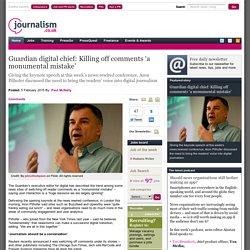 """Supprimer l'espace de commentaires de son site est une """"énorme erreur"""" pour le responsable digital du Guardian (en anglais)"""