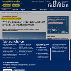 Why the Guardian is putting global CO2 levels in the weather forecast