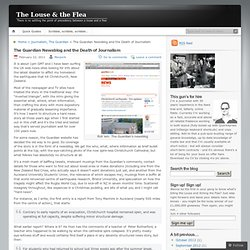The Guardian Newsblog and the Death of Journalism « The Louse & the Flea