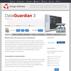 Data Guardian 3 - 448-bit Web-Enabled Secure Dual Platform Database