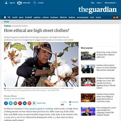 How ethical are high street clothes?