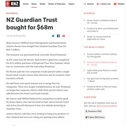 NZ Guardian Trust bought for $68m