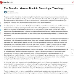 The Guardian view on Dominic Cummings: Time to go