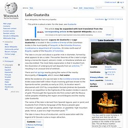 Lake Guatavita - Wikipedia, the free encyclopedia - Nightly
