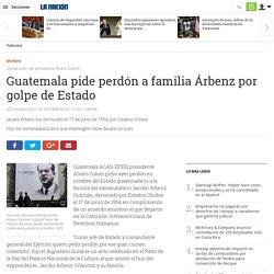 Guatemala pide perdón a familia Árbenz por golpe de Estado