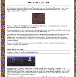 GUATEMALAN MAYA ARCHEOLOGY