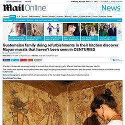 Guatemalan family doing refurbishments discover Mayan murals that haven't been seen in CENTURIES