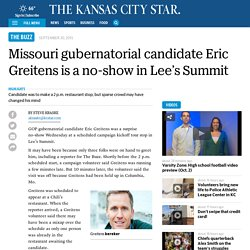 Missouri gubernatorial candidate Eric Greitens is a no-show in Lee's Summit