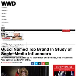 Gucci Named Top Brand in Study of Social Media Influencers – WWD
