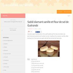 Sablé diamant vanille et fleur de sel de Guérande
