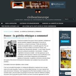 France : la guérilla ethnique a commencé – civilwarineurope