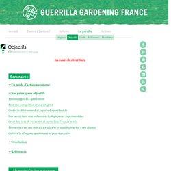 Guérilla gardening France