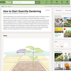 How to Start Guerilla Gardening: 8 Steps (with Pictures)