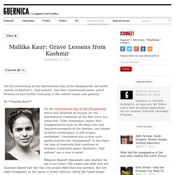Mallika Kaur: Grave Lessons from Kashmir