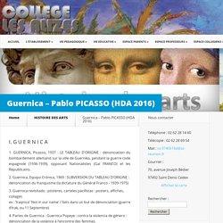 Guernica – Pablo PICASSO (HDA 2016)