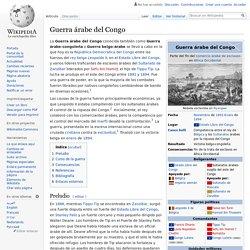 Guerra árabe del Congo