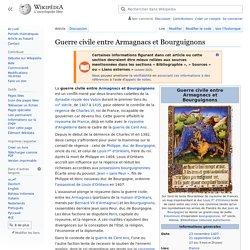 Guerre civile entre Armagnacs et Bourguignons