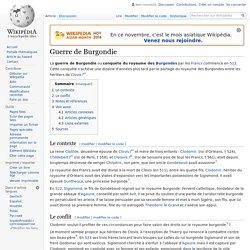 Guerre de Burgondie