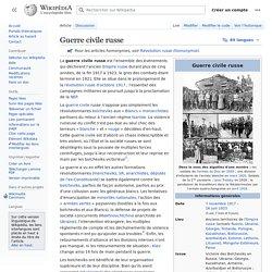 Guerre civile russe