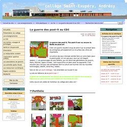 La guerre des post-it au CDI - Collège Saint-Exupéry Andrésy