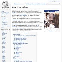 Guerre de tranchées - wikipédia